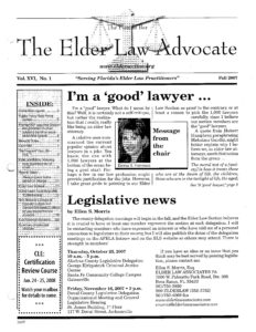 Fall 2007 Advocate Cover