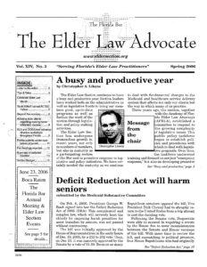 Spring 2006 Advocate Cover